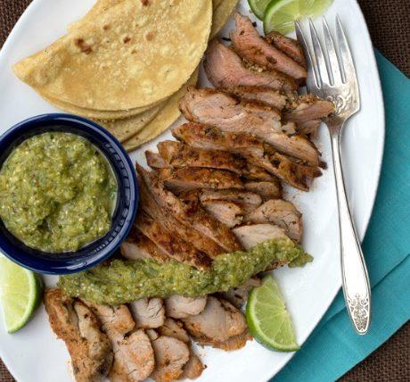 An Easy Recipe for Pork Tenderloin with Salsa Verde