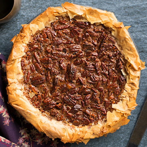 Bourbon Pecan Pie With Phyllo Crust is the Boozy Pie of Your Dreams