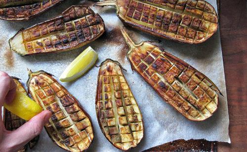 Crisscrossed Eggplant