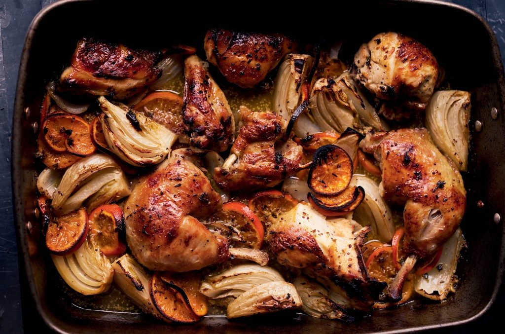 Yotam Ottolenghi Roasted Chicken With Clementines and Arak
