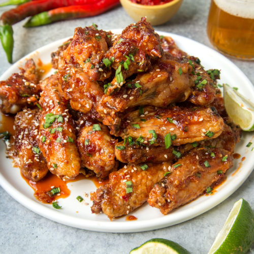 Sweet and Spicy Sambal Chicken Wings