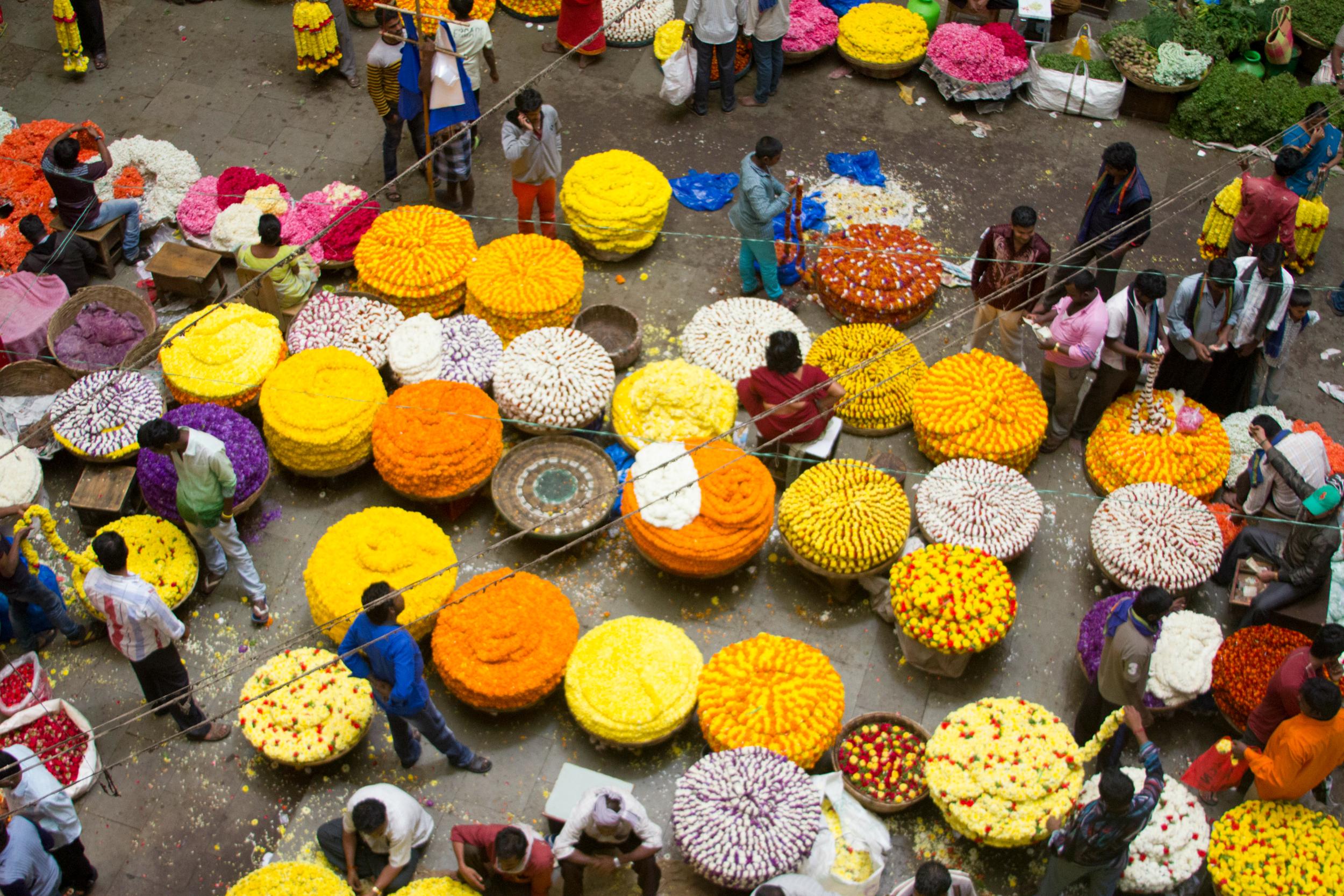 overhead market photo