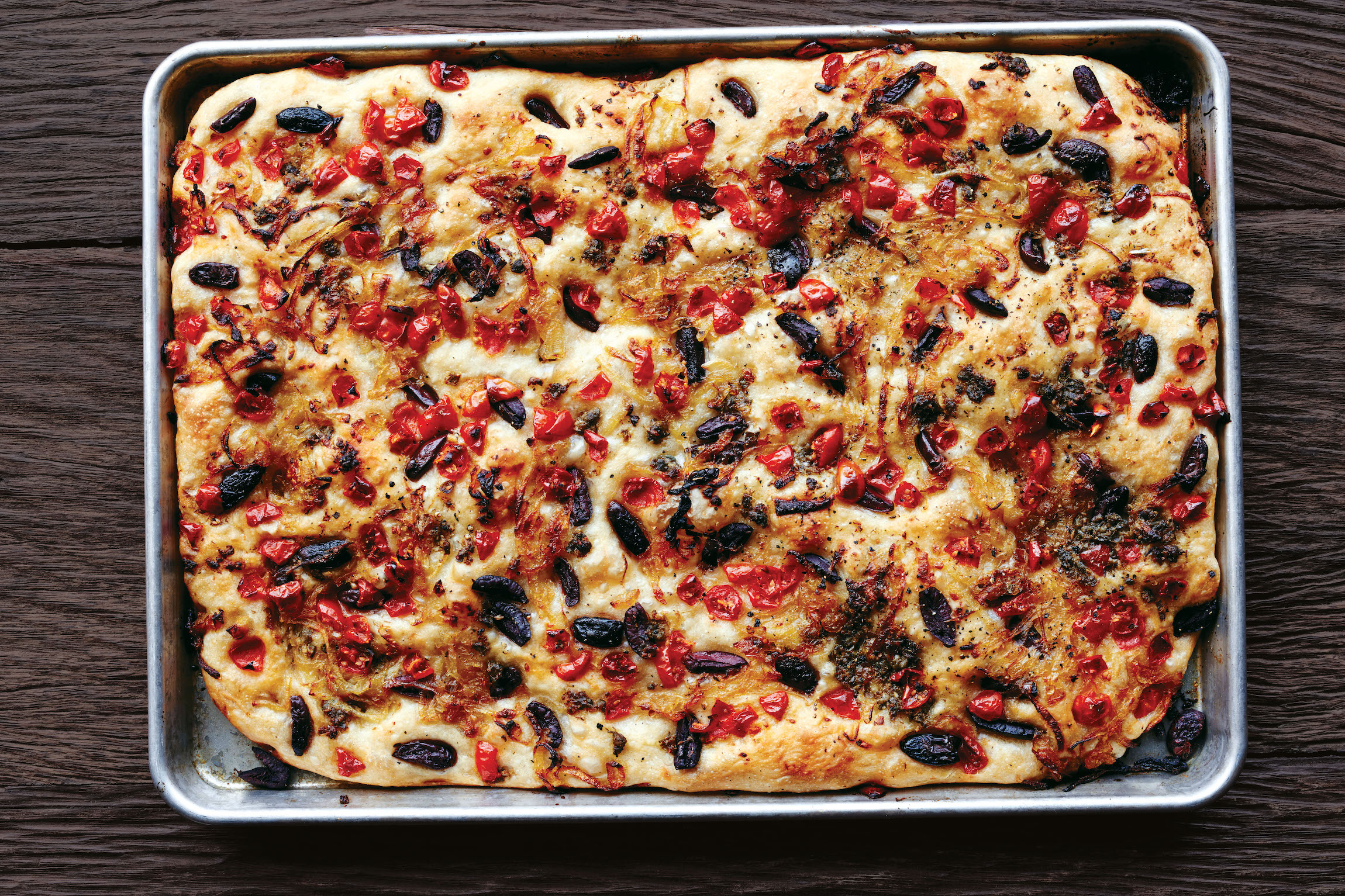 Pissaladière With Anchovies, Tomatoes, and Onions