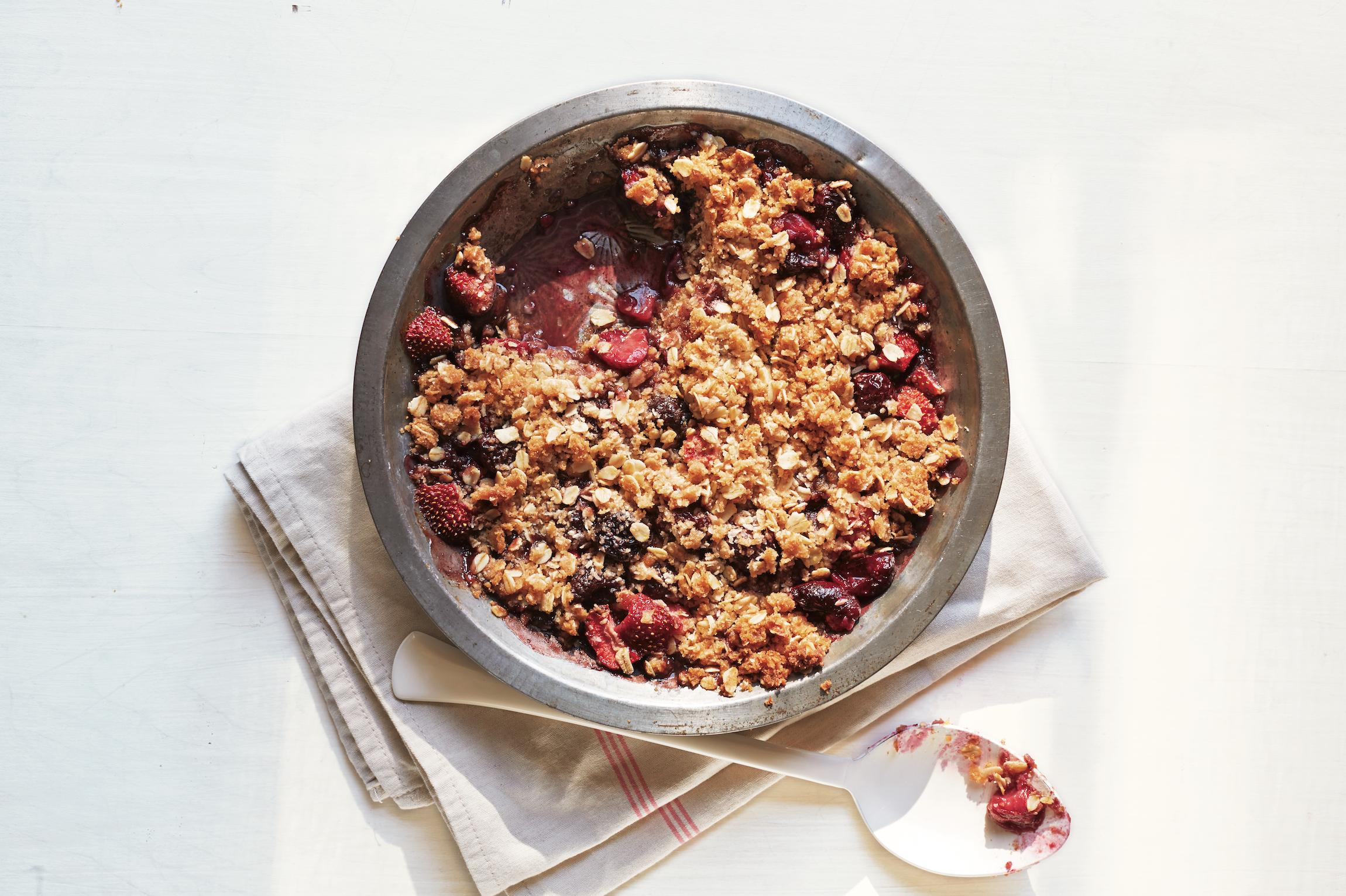 Rhubarb and Raspberry Rye Crisp