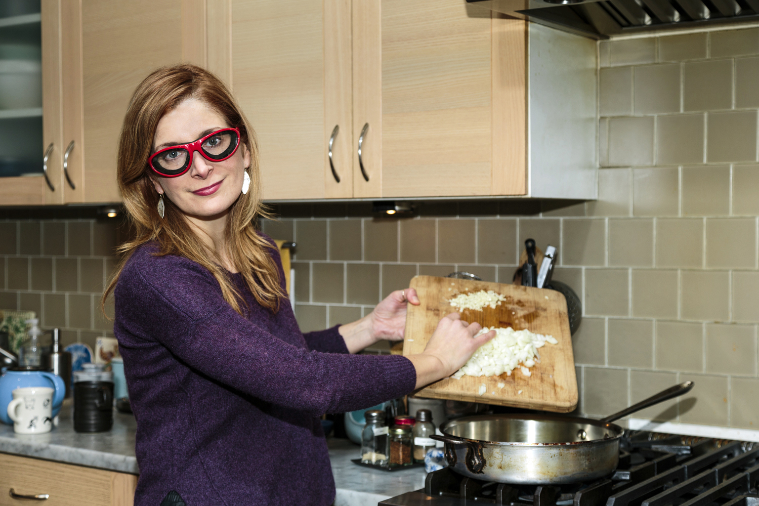 Food writer and cookbook author Melissa Clark in her home kitchen