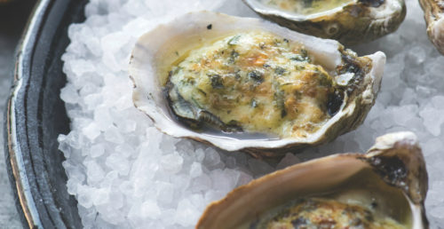 Coal-Roasted Oysters on the Half-Shell
