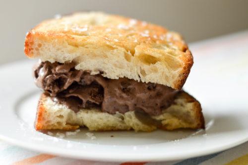 Chocolate Sourdough Ice Cream Sandwich