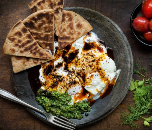 Turkish-Style Poached Eggs With Urfa Biber