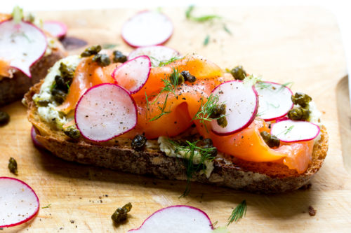 Caper-Lemon Butter Tartines