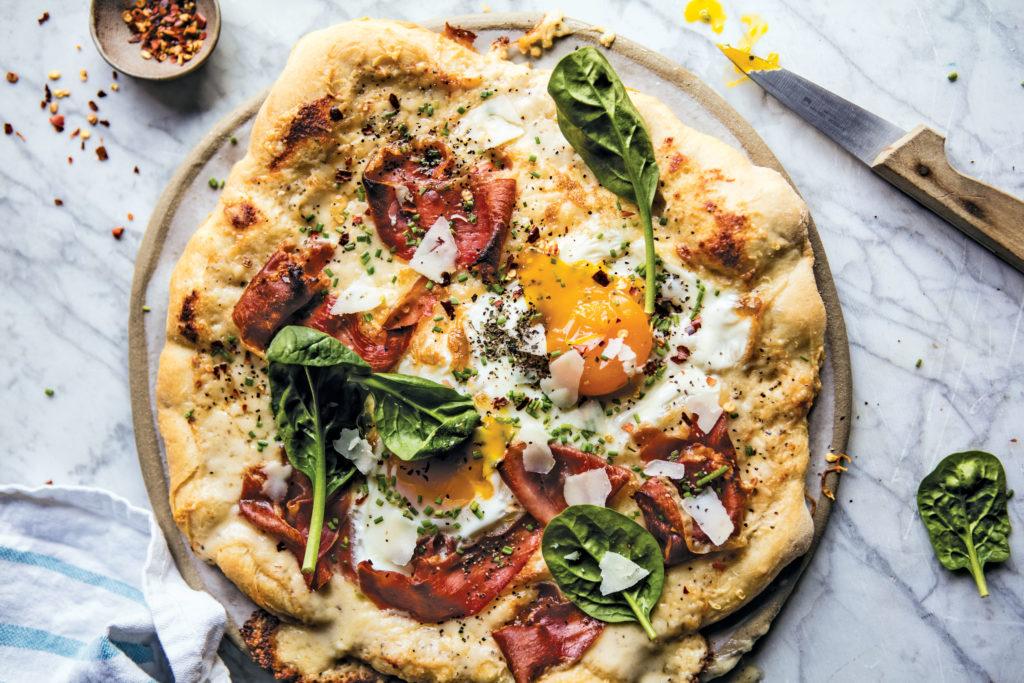 Croque Madame Breakfast Pizza