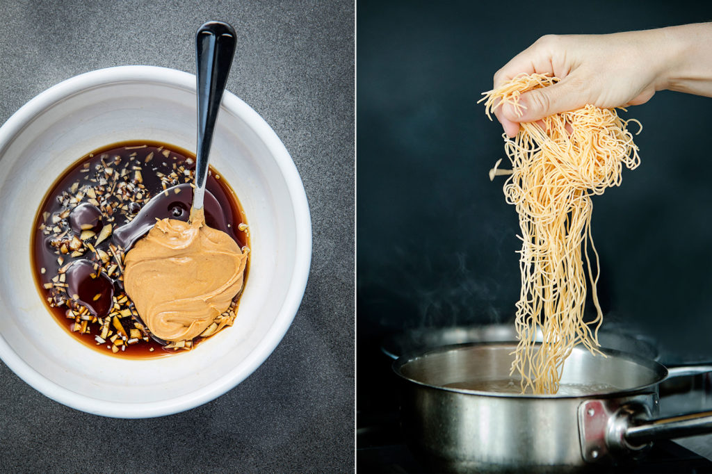Peanut Butter Cold Noodles Recipe