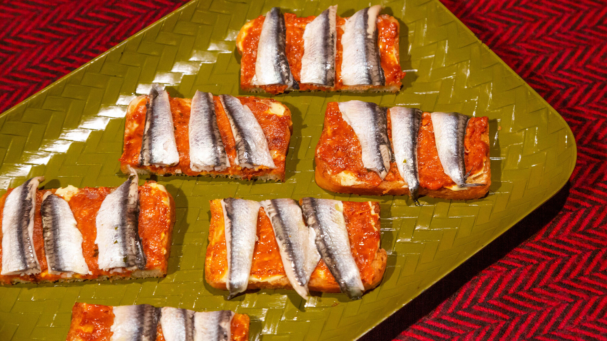 Article-Anchovy-Nduja-Toast-Larrys-Montreal-Canape-Holiday-Appetizer-Recipe