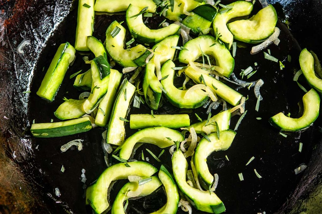 Cooked Cucumber Salad