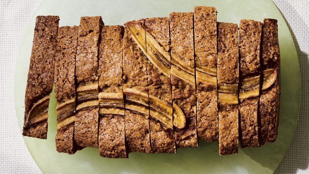 Brown Butter & Labneh Banana <s>Bread</s> Cake
