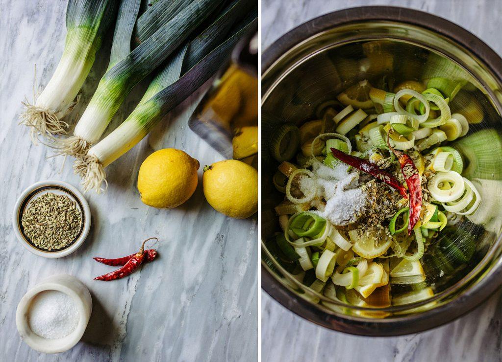 Confit Leek Lemon Vegetable Recipe
